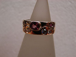 Gold Ring with Gemstones